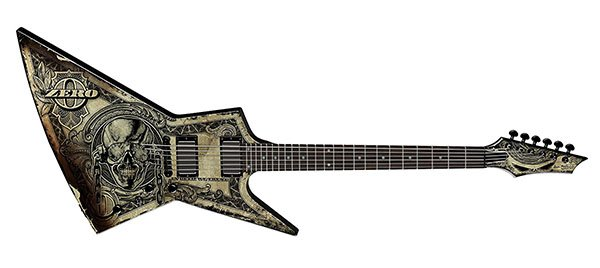"""Dean Dave Mustaine Zero """"In Deth We Trust"""" – Affordable Piece of Art"""