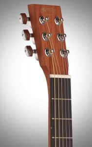 Martin Steel String Backpacker Travel Guitar-neck