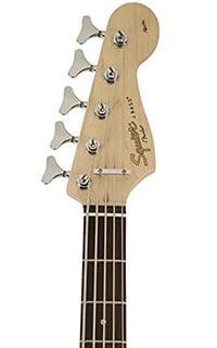 Squier Affinity Series 5-String Jazz Bass V Headstock