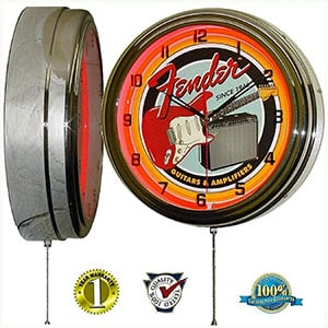 Fender Guitar & Amp Wall Clock